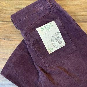 J. Crew plum purple corduroy bootcut jeans 6s